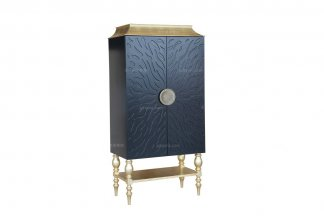高端家居售楼部家具会所家具法式黑配金装饰柜