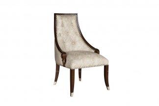 高端家具品牌别墅家具会所家具法式咖啡色书椅