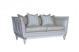 五星级酒店家具品牌法式贝母漆二人位沙发