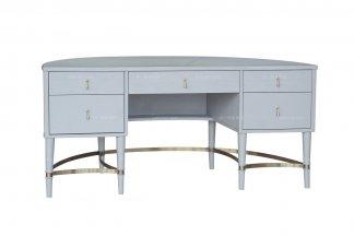 别墅豪宅楼盘家具高端家私法式灰绿色书桌
