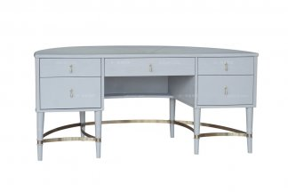 88bf必发娱乐豪宅楼盘家具高端家私法式灰绿色书桌