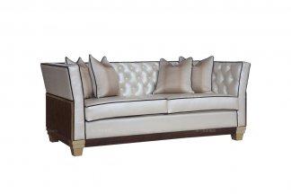 名贵五星级酒店万博手机网页品牌法式咖啡色二人位沙发