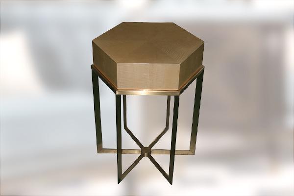 高端现代轻奢沙发实木客厅沙发 黑檀木皮拼花真皮沙发组合多边角几