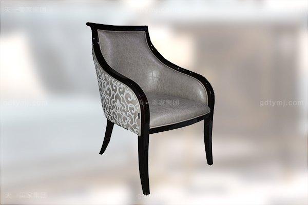高端现代轻奢华书房家具实木书房书桌黑檀木皮拼花真皮书椅书桌组合