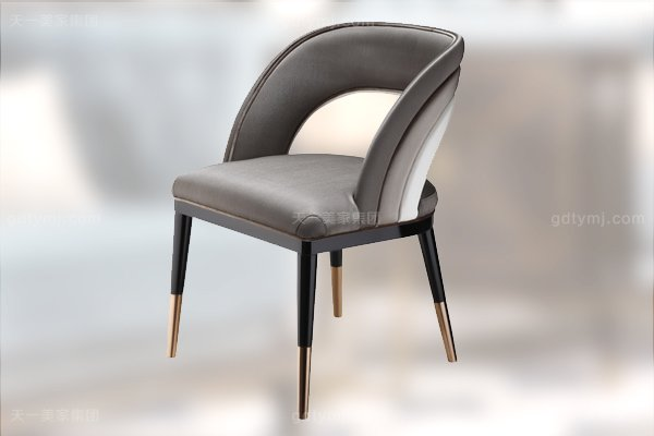 名贵后现代轻奢家具客厅餐桌椅山水紫石面餐桌拉丝纹真皮餐椅餐椅