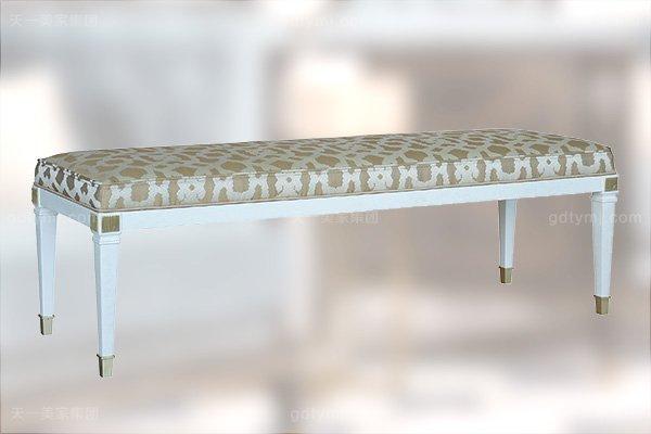 高端简约新古典万博手机网页卧室银色大床系列组合床尾凳