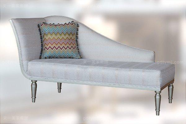 高端简约新古典万博手机网页卧室银色大床系列组合贵妃椅