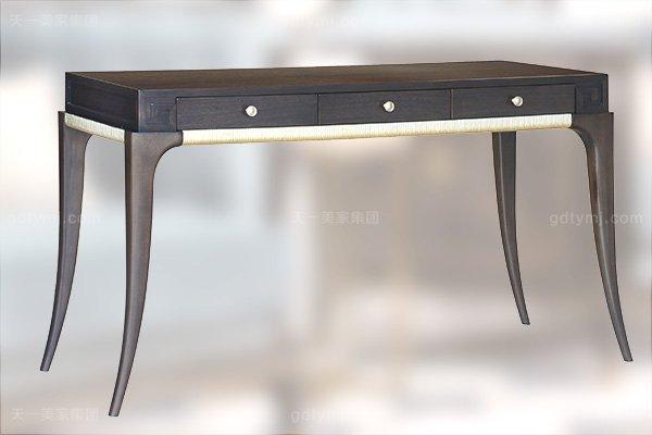 高端简约新古典万博手机网页卧室银色大床系列组合功能桌