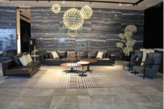 意式极简奢万博手机网页现代客厅进口桦木茶几真皮软客厅包沙发组合
