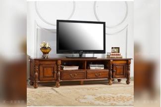 高端别墅豪华万博手机网页优质橡胶木好实木美式电视柜