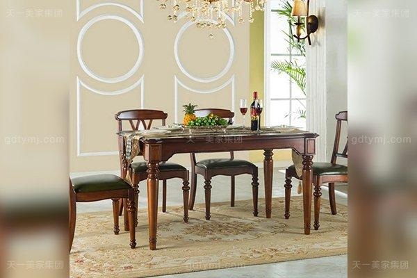 豪华大宅家具高端好实木美式长餐桌