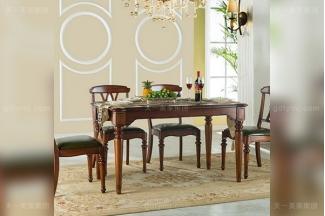 豪华大宅万博手机网页高端好实木美式长餐桌