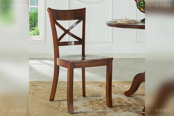 别墅豪宅家具品牌高端好实木美式餐椅