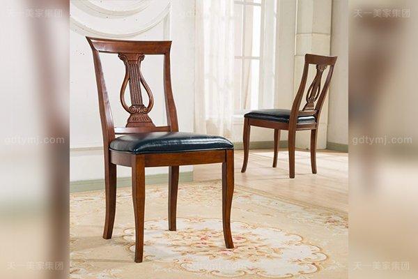 别墅豪华家具高端好实木头层黄牛双面手工镂空精雕皮餐椅