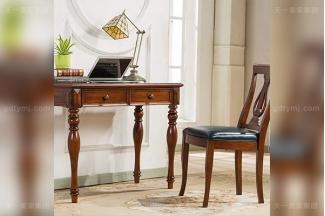 别墅豪宅万博手机网页品牌高端好实木露木色美式小书桌
