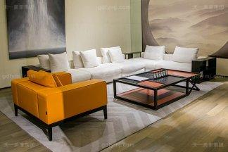 意式极简奢华现代客厅沙发组合