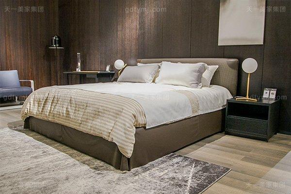 意大利极简奢高端别墅卧室家具组合