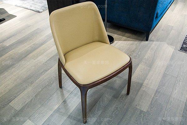 意大利极简奢高端实木真皮餐桌椅万博手机网页组合餐椅