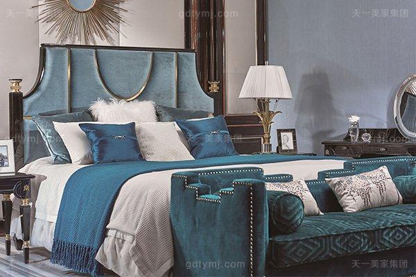 名贵豪宅轻奢万博手机网页品牌卧室真皮布艺软包双人床系列双人床