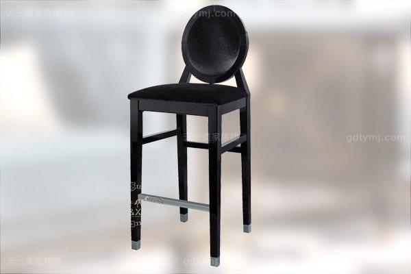 高端后现代轻奢家具黑鳄纹+黑牛角+桃木纹饰面吧台椅酒柜组合吧椅