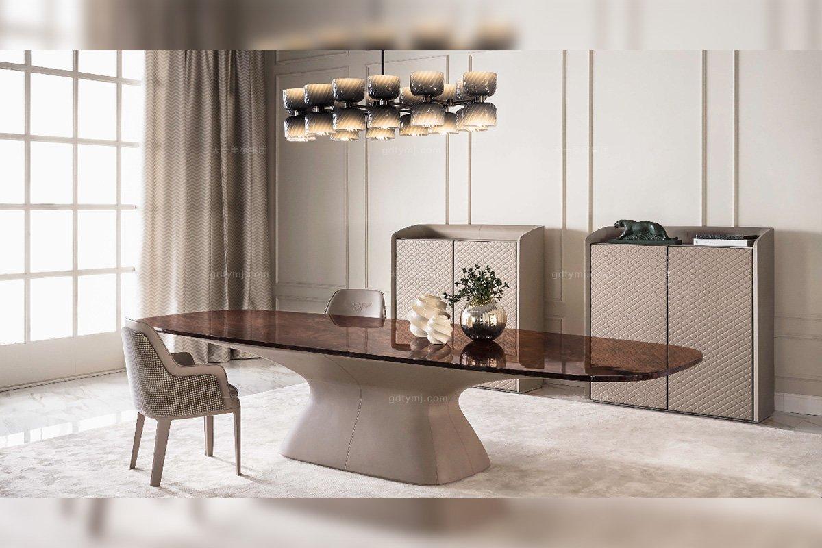 名贵奢华豪宅88bf必发娱乐家具品牌餐厅家具实木餐桌