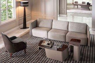 顶级奢侈品牌别墅豪宅家具品牌优质高弹海棉布艺软包客厅四人位沙发