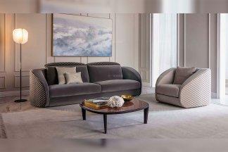 顶级奢华意大利风豪宅别墅品牌家具高弹海棉优质绒布艺车格子客厅沙发组合