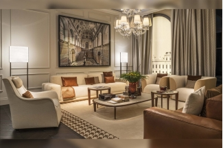 名贵奢华五星级酒店万博手机网页品牌后现代客厅米色布艺沙发组合
