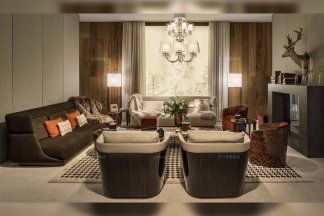 名贵豪宅别墅品牌万博手机网页客厅后现代优质布艺沙发组合
