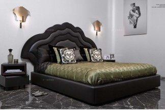 名贵奢华五星级酒店家具品牌卧室家具真皮大床组合套装