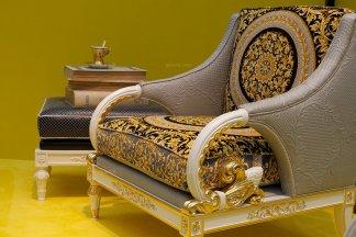 高端别墅新古典实木客厅扶手椅