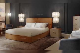 世界名贵奢华豪宅家具品牌宾利后现代风爱马仕橙大床