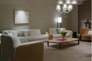 高端奢华豪宅家具品牌客厅白色布艺组合沙发