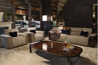 高端奢华豪华家具品牌高弹高密度海绵客厅布艺沙发组合