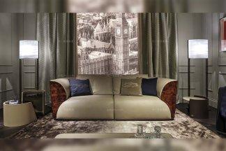 高端奢华别墅豪宅家具品牌后现代风真皮双人位沙发