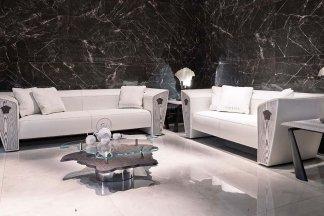 名贵奢华别墅客厅沙发茶几组合