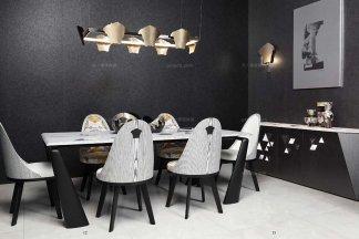 名贵奢华别墅品牌万博手机网页餐厅简约餐桌餐椅组合