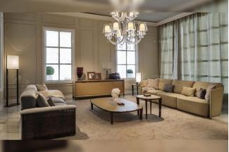 高端奢华豪宅别墅家具品牌后现代风布艺客厅沙发组合