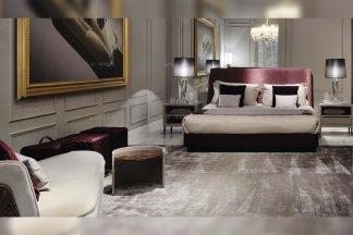 高端别墅豪宅家具品牌宾利后现代卧室双人大床