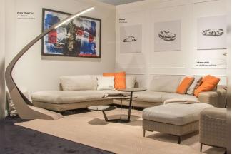 奢华豪宅别墅品牌万博手机网页客厅轻奢现代米黄色布艺软包组合沙发