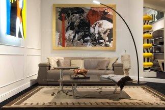 世界奢华豪华家具会所家具品牌客厅时尚棕色真皮双人位沙发