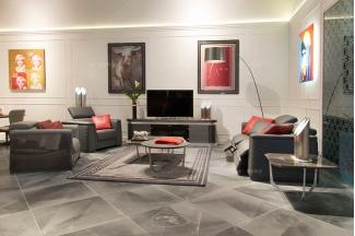 名贵奢华豪华家具品牌客厅轻奢现代灰色舒适功能真皮沙发组合车格子
