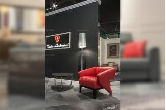 世界名贵奢华万博手机网页品牌兰博基尼时尚轻奢红色真皮车格子软包休闲椅