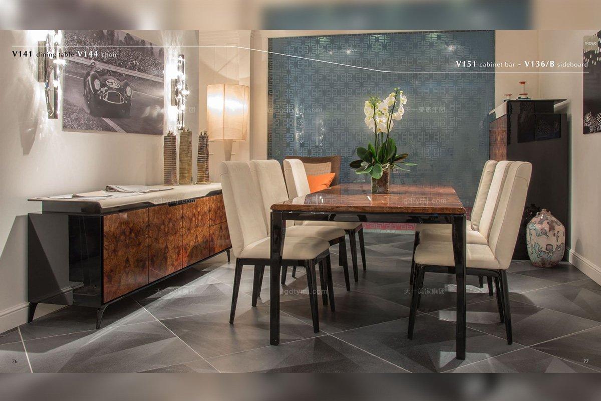 高端轻奢别墅万博手机网页品牌餐厅现代时尚餐桌椅组合