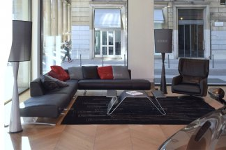 高端轻奢别墅五星级酒店万博手机网页品牌客厅现代黑色组合沙发