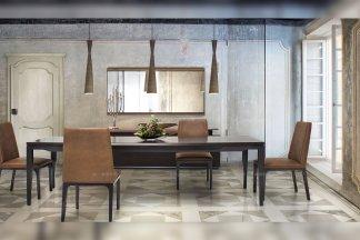 高端轻奢别墅万博手机网页品牌餐厅现代时尚实木餐桌椅