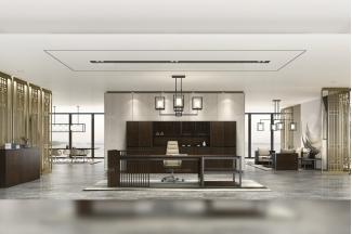高端办公家具品牌时尚轻奢办公台办公椅书柜组合