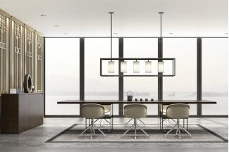 高端奢华办公家具品牌时尚轻奢办公休闲桌椅组合