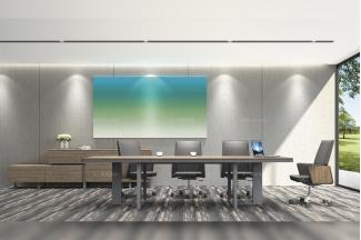 高端奢华公司办公家具品牌时尚轻奢办公休闲会议桌椅组合