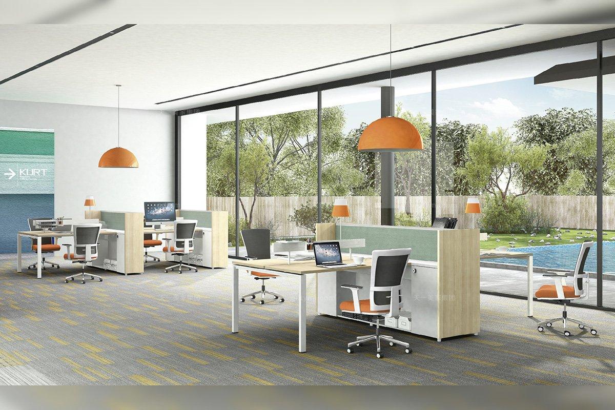 别墅会所高端办公家具品牌现代时尚轻奢职员办公桌椅组合